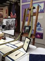 Wings displayed at Valerie's funeral reception