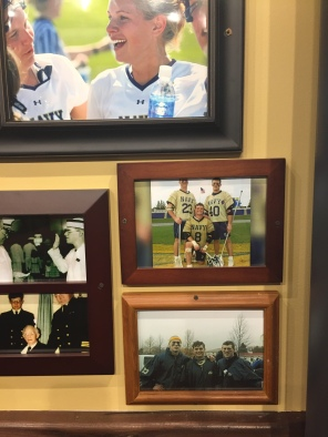 Picture of Val and Brendan Looney during their lacrosse days at USNA.